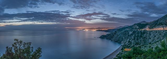 Sunset in Playa Maro Nerja